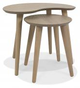 Bentley Designs Dansk Oak Nest of Lamp Tables View at an Angle