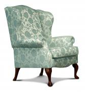 Woburn Floral Blue with Dark Beech legs