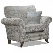Main fabric 9717, small scatter cushion in 9827, smokey oak pewter castor legs.
