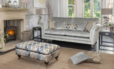 Alstons Lowry Grand Sofa and Legged Ottoman