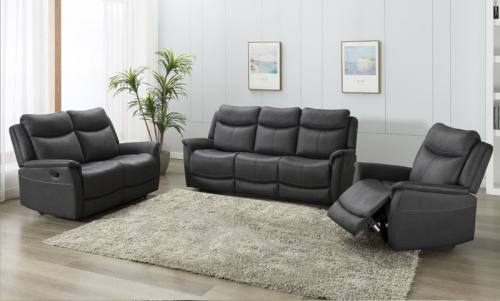 Phoenix 3 Seater Sofa and 2 Chairs in Slate