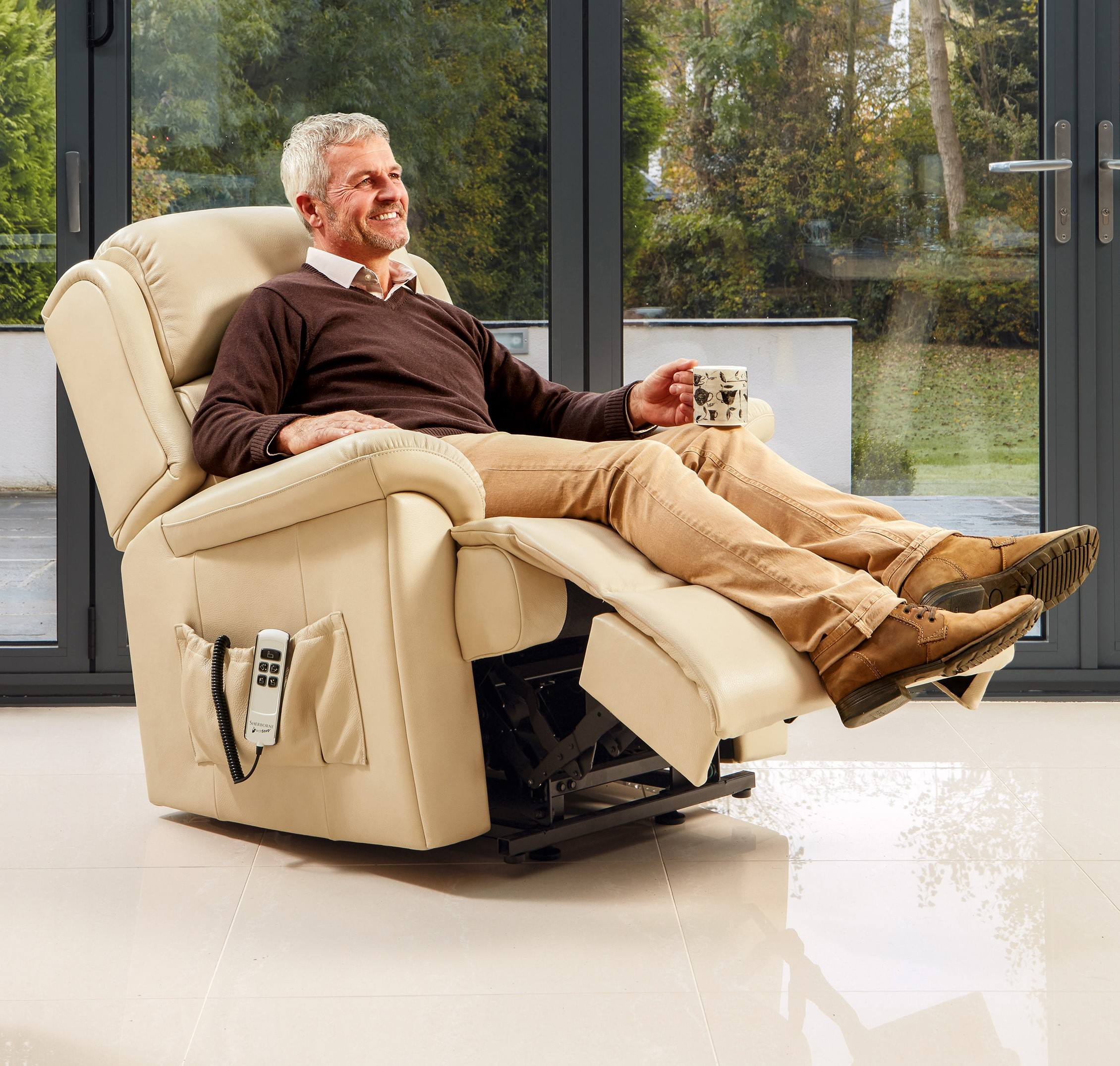 Sherborne Olivia Leather Small Electric Riser Recliner