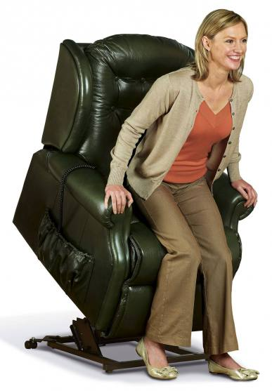 Sherborne Lynton Small Electric Riser Recliner Chair (vat Included) Leather