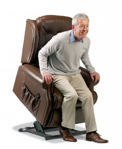 Sherborne Lynton Royale Leather Electric Riser Recliner Chair (Vat Exempt)