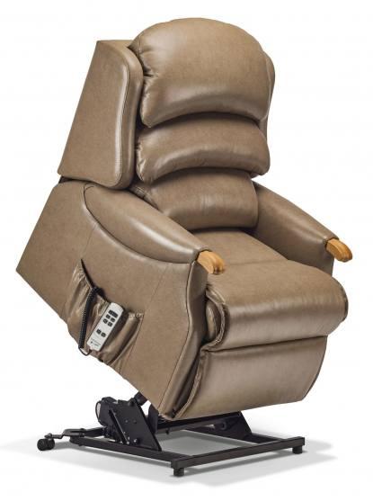 Sherborne Malham Petite Electric Riser Recliner Chair (vat Exempt) Leather