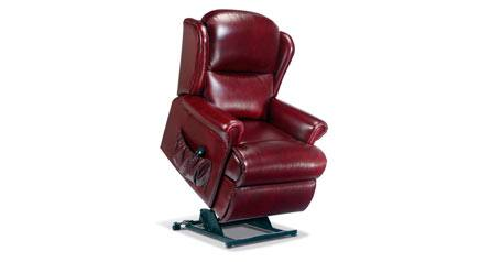 Sherborne Malvern Small Leather Electric Riser Recliner Chair (Vat Included)