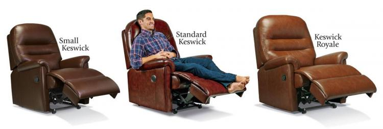 sherborne keswick leather recliner sizes