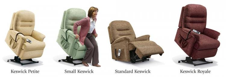 sherborne keswick lift & rise recliner chair range