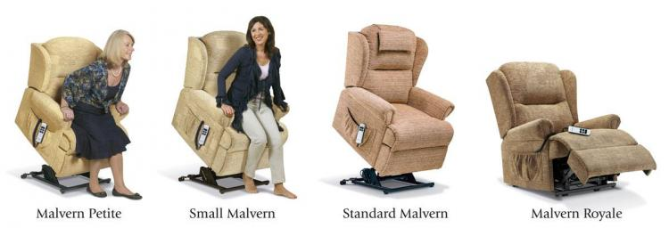 sherborne malvern lift & rise recliner chair range