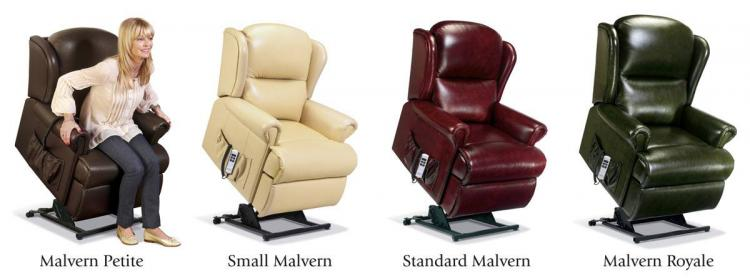 sherborne malvern leather lift & rise recliner chair range