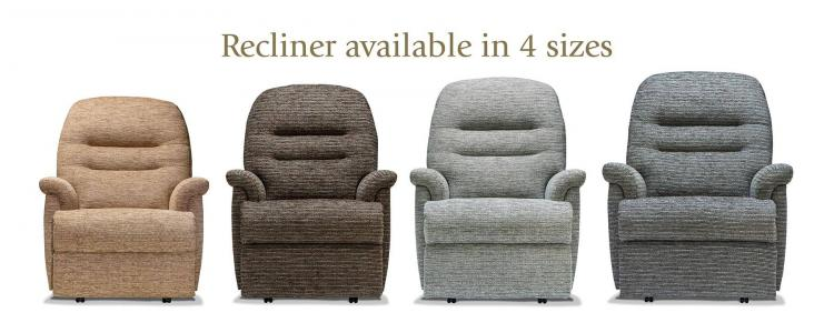 Recliner available in 4 sizes