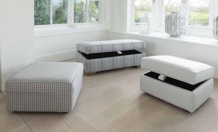 Alstons Lancaster footstool, storage footstool and ottoman