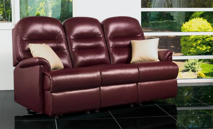 sherborne keswick leather small 3 seater sofa