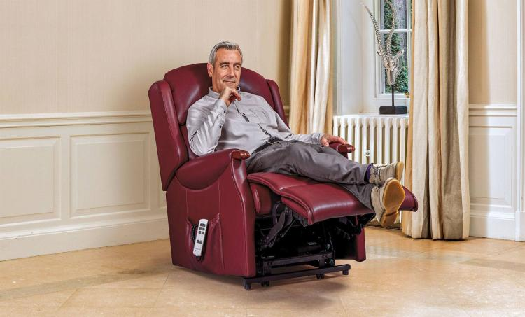 Sherborne Malham Leather Lift & Rise Recliner Chair