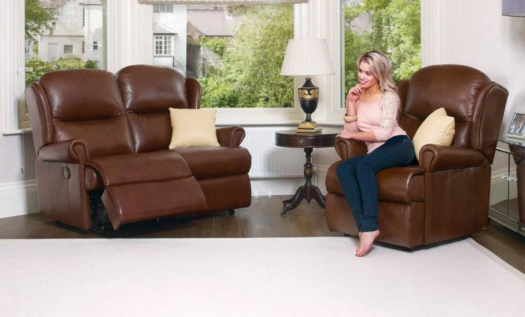 sherborne malvern leather sofas, recliners and suites