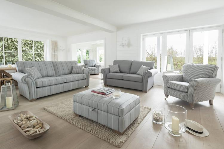 Alstons Lancaster 3 seater sofa, 2 seater sofa, standard chair, accent chair and ottoman