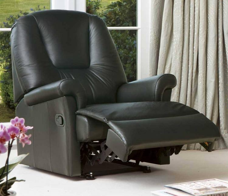 sherborne milburn leather standard reclining chair