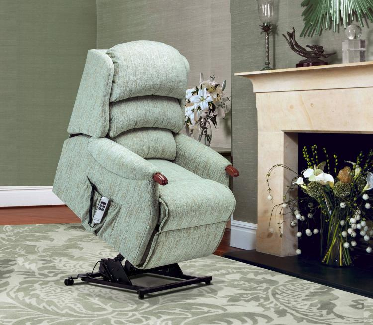Sherborne Malham Knuckle Petite Electric Riser Recliner Chair (VAT Exempt) - Dual motor