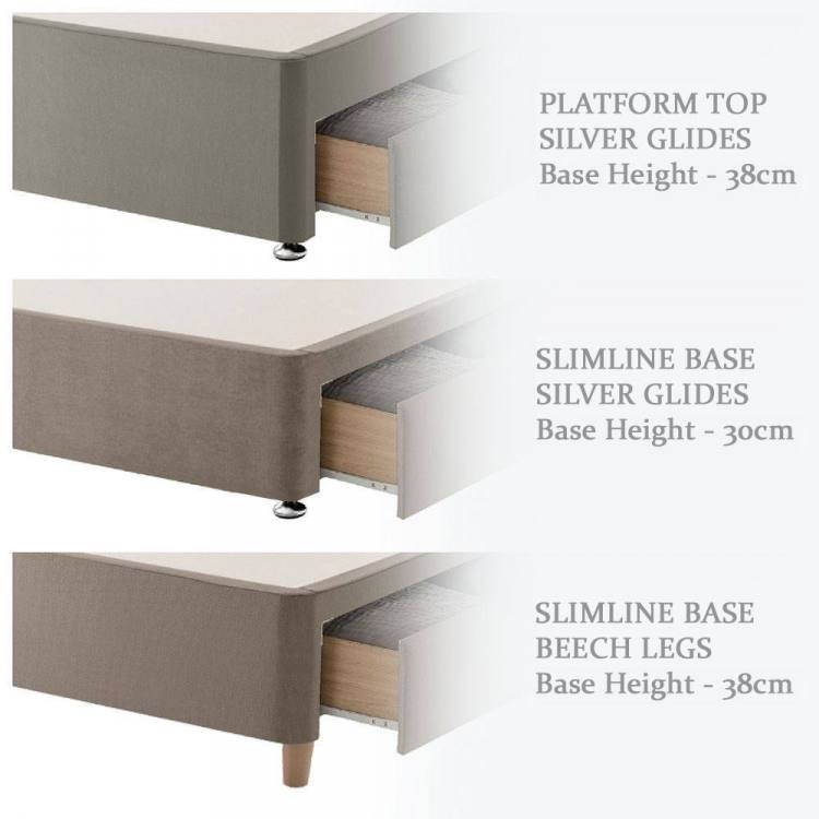 3 styles of divan base to choose from