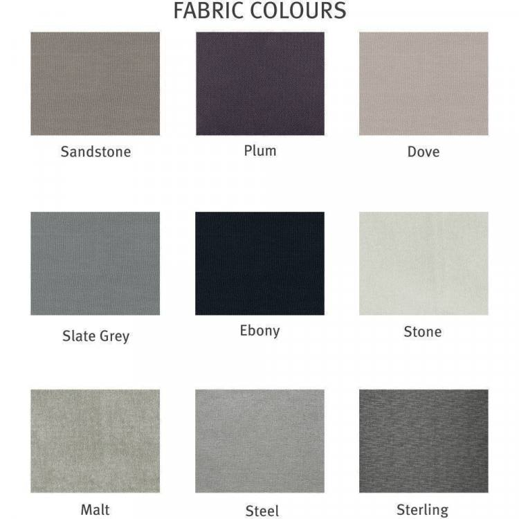 Choose from 9 fabrics